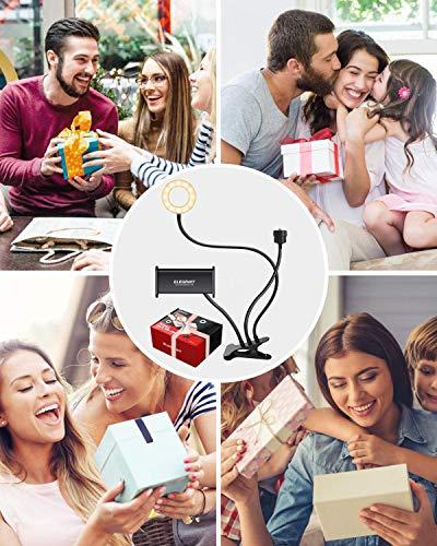 Disfruta de videos entretenidos con tus amigos y familiares. Este aro de luz con pinza y portátil es ideal para videos caseros.