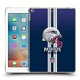 Official NFL Helmet New England Patriots Logo Hard Back Case for iPad 9.7 2017 / iPad 9.7 2018