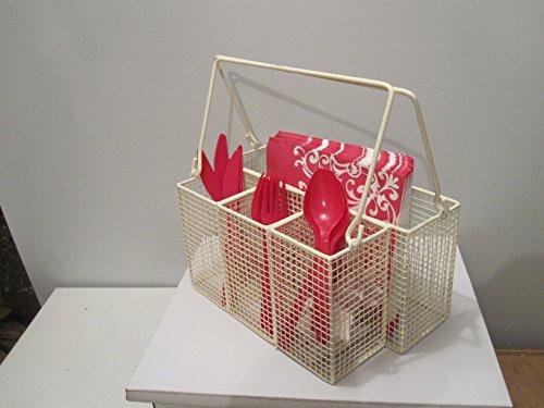 Mesh Utensil Caddy Mesh Utensil / Napkin/Condiment Holder Cutlery Park Picnic Kitchen Garden by UBC