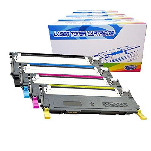 Inktoneram Compatible Toner Cartridges Replacement for Samsung CLP315 CLP-315 409S CLT-409S CLP-310 CLP-315W CLX-3170 CLX-3175FN CLX-3175FW ([Black,Cyan,Magenta,Yellow], 4-Pack)