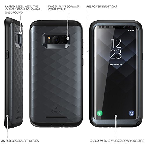 premium selection 456b5 f25e7 Galaxy S8 Case, Clayco [Hera Series] [Updated Version] Full-body Rugged  Case with Built-in Screen Protector for Samsung Galaxy S8 (2017 Release) ...