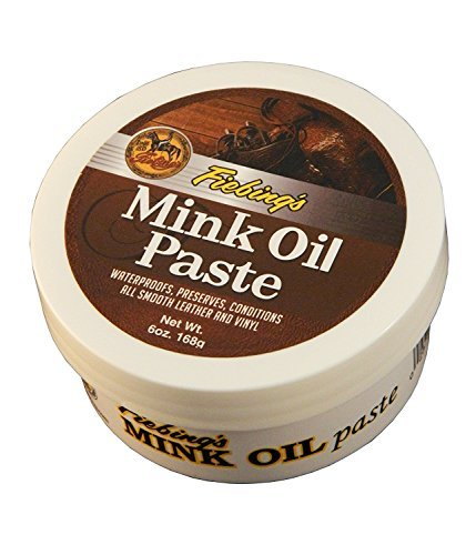 Fiebing's Mink Oil Paste, 6 Oz. - Softens, Preserves and Waterproofs Smooth Leather and Vinyl (2) (Best Mink Oil For Leather Boots)