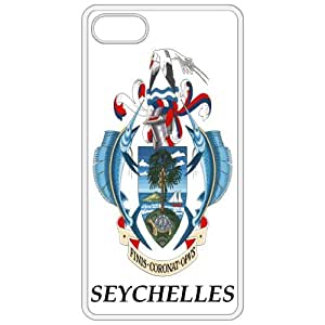Seychelles - Coat Of Arms Flag Emblem White Apple Iphone 5 Cell Phone Case - Cover