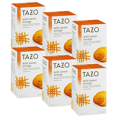 (Tazo Wild Sweet Orange Herbal Tea, 20 ct(Pack of 6))