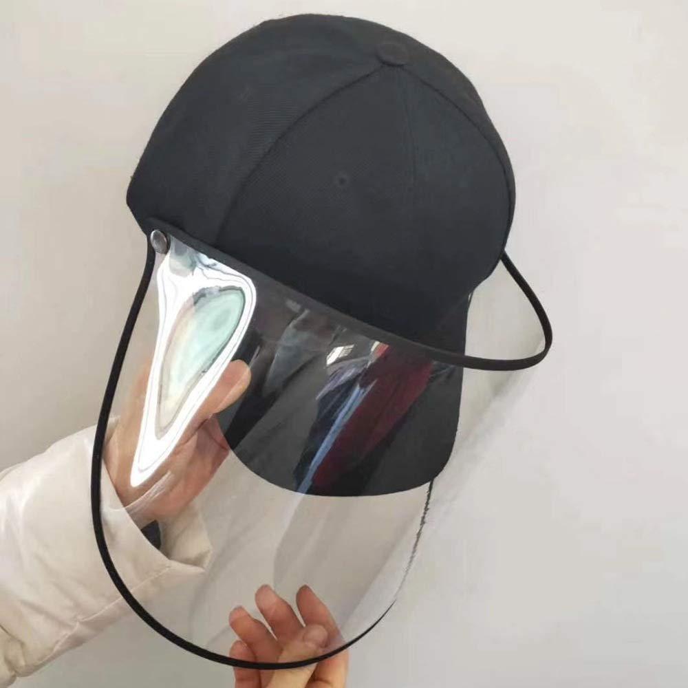 Polvere Polar Light Berretto da Baseball e Pescatore con Maschera Trasparente per bloccare Gocce dAcqua polline e Anti-aliva per Le Occasioni allaperto