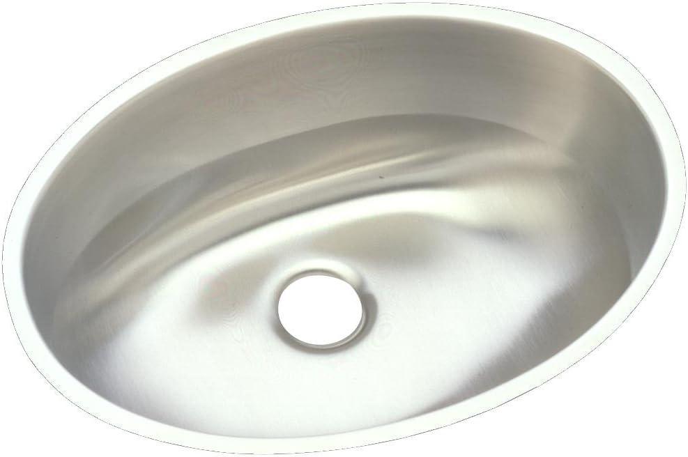 Elkay ELUH1511 Asana Single Bowl Undermount Stainless Steel Bathroom Sink
