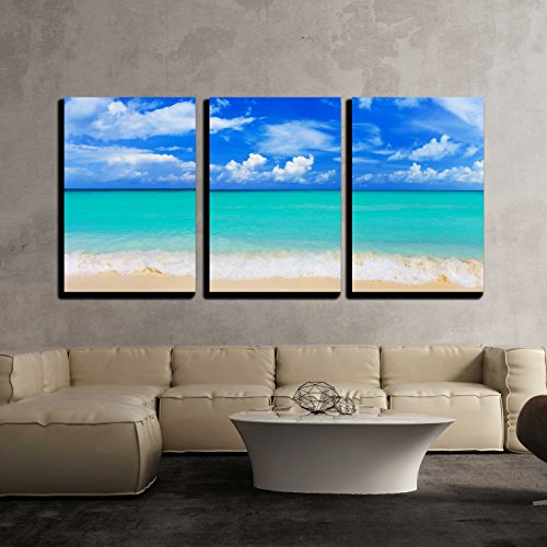 Word Paradise on Beach Concept Travel Background x3 Panels