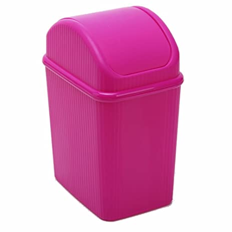 Amazon.com: HiaoxindfjR Desktop Mini Plastic Trash Can Small Waste ...