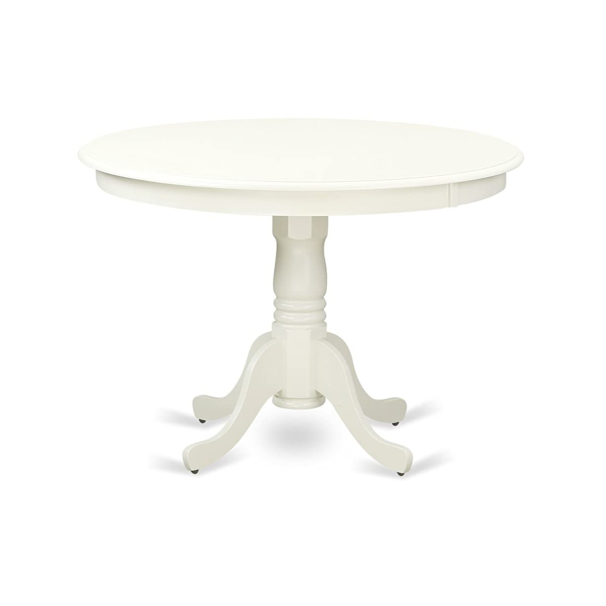 """East West Furniture HLT-LWH-TP Hartland Table 42"""" Diameter Round Table Finish, Linen White"""