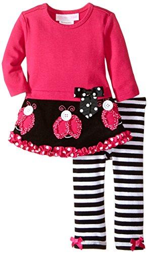 Bonnie Baby Baby Girls Corduroy Dress and Legging Set Ladybug 0-3 Months