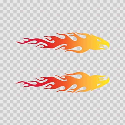 Yellow Flame Graphic - 8