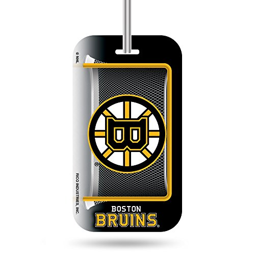 Rico NHL Boston Bruins Crystal View Team Luggage Tag, Black, Yellow, 7.5-inches by 3-inches by 0.5-inch