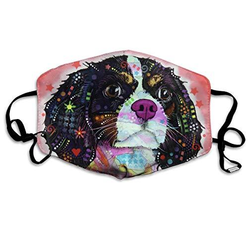 Colorful Cute Dog Art Dust Mask Original Mouth Mask Dust-Proof Anti-Haze Earloop Face -