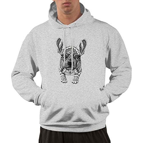 Best4U&Me Frenchie French Bulldog Men's 100% Cotton Hoodie