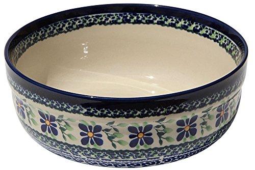 Polish Pottery Bowl 7 Inch From Zaklady Ceramiczne Boleslawiec #834-du121 Unikat Pattern, Height: 2.75