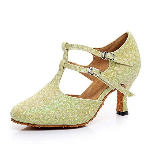 WYMNAME Dérapant de Chaussures Latine Salle Womens Chaussures Bal Anti Sandale Femmes Danse de Vert des de qYqEARSwr