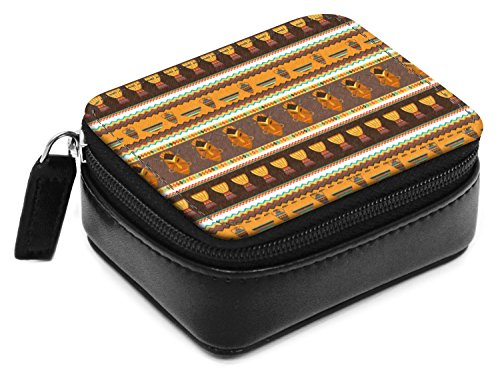 African Stripes Vase (African Masks Small Leatherette Travel Pill Case)