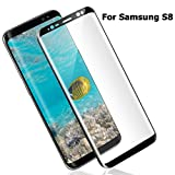 Atill Samsung Galaxy S8 Screen Protector, Whole Tempered Glass, 3D Curved, Scratch Proof, Full Coverage for Samsung Galaxy S8 (Black)