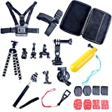 9milelake 26in1 Head Chest Mount Floating Monopod Accessories Kit for Gopro 2 3 4 Camera ,26-in-1 Accessories Kit for Gopro Hero 4, Hero Hd 3+/3/2/1 Camera