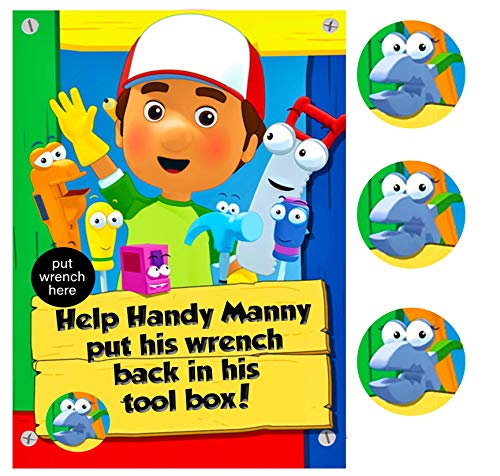 Handy Manny Themed Party Supply Game - Help with The Toolbox