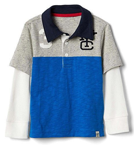 Gap Baby Boys Long Sleeve Crested Rugby Shirt (12 - 18 (Button Down Rugby)
