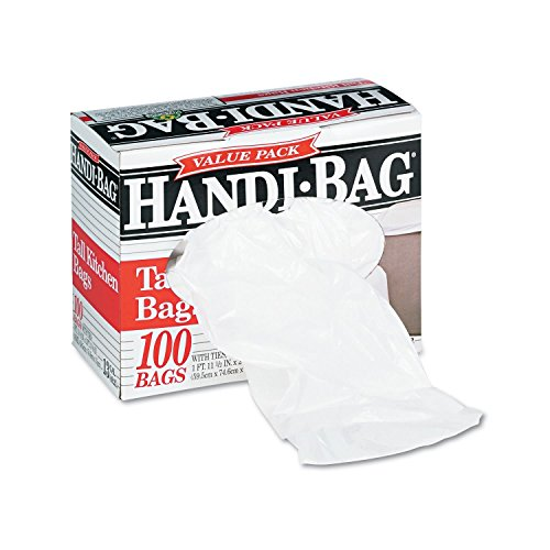 Super Value Pack Trash Bags 13 Gallon 6 Mil 23 1 2 X 29 3 8 White 100