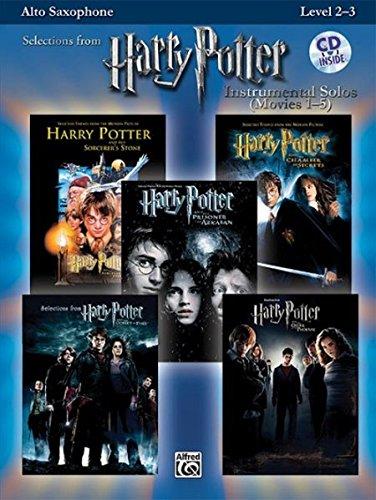 Alto Sax Solo Music Book (Harry Potter Instrumental Solos (Movies 1-5): Alto Sax, Book & CD (Pop Instrumental Solo Series))