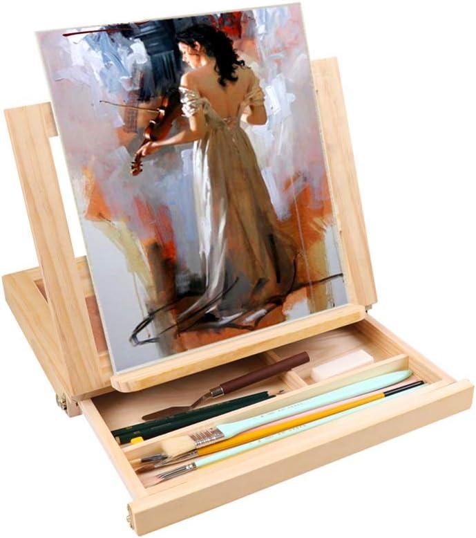 Tabla Pintura de Caballete Tablero de Dibujo Caja Caballete de ...