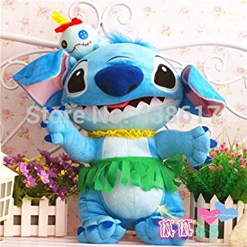 Free Shipping Lilo and Stitch Plush Kids Toys 48cm Giant Dress Stitch Peluche Pelucia Stuffed Animals