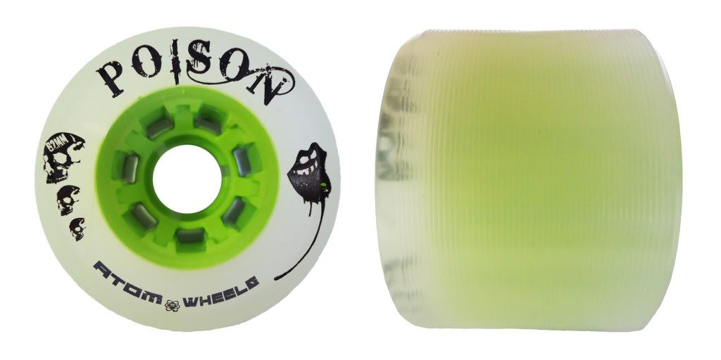 Atom Poison Wheels - Atom Poison Skate Wheels - 84A Hybrid Derby Wheel