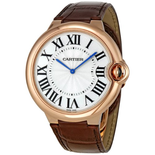 Cartier Ballon Bleu Extra Large 46mm Men's Manual Wind 18K Rose Gold Watch - W6920054 (Gold Manual Wind)