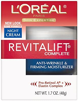 L'Oreal Paris RevitaLift Complete Night Cream Anti-Wrinkle & Firming Moisturizer