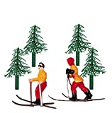 Snow Skier and Trees Cake Decorating Set