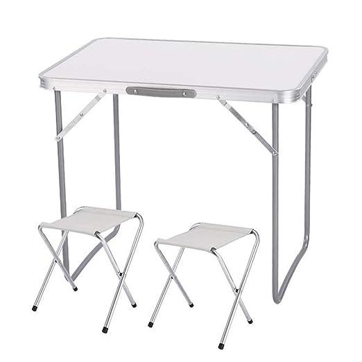 Mesa plegable portátil de aluminio para salón, ligera, para jardín ...