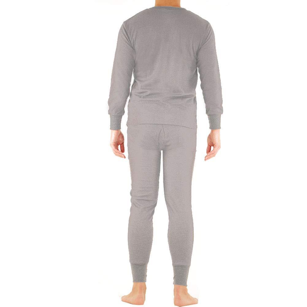 d304f6a5f967 SLM ThermaTek Men's 100% Cotton Thermal Long Johns Underwear Two Piece Set  at Amazon Men's Clothing store: