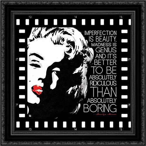 (Imperfection is Beauty 20x20 Black Ornate Wood Framed Canvas Art by Rodriquez Jr, Enrique)