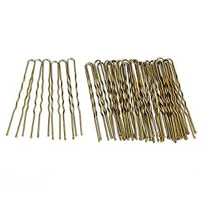 Bun Hair Bobby Pins U Shaped Pin with Box Hair Grips to Clip Ballet Hair Net for Women