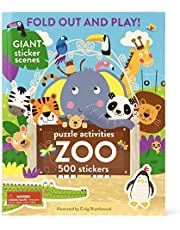 Zoo: 500 Stickers and Puzzle Activities: Fold Out and Play!