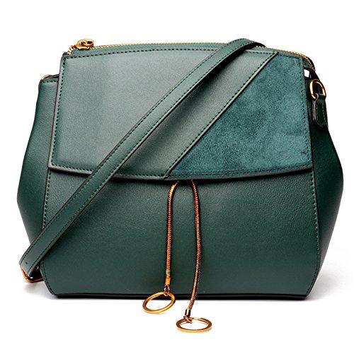 Hembra XinMaoYuan Otoño e Invierno bolsos de cuero Bolsos Bolso Messenger portátil Retro Green