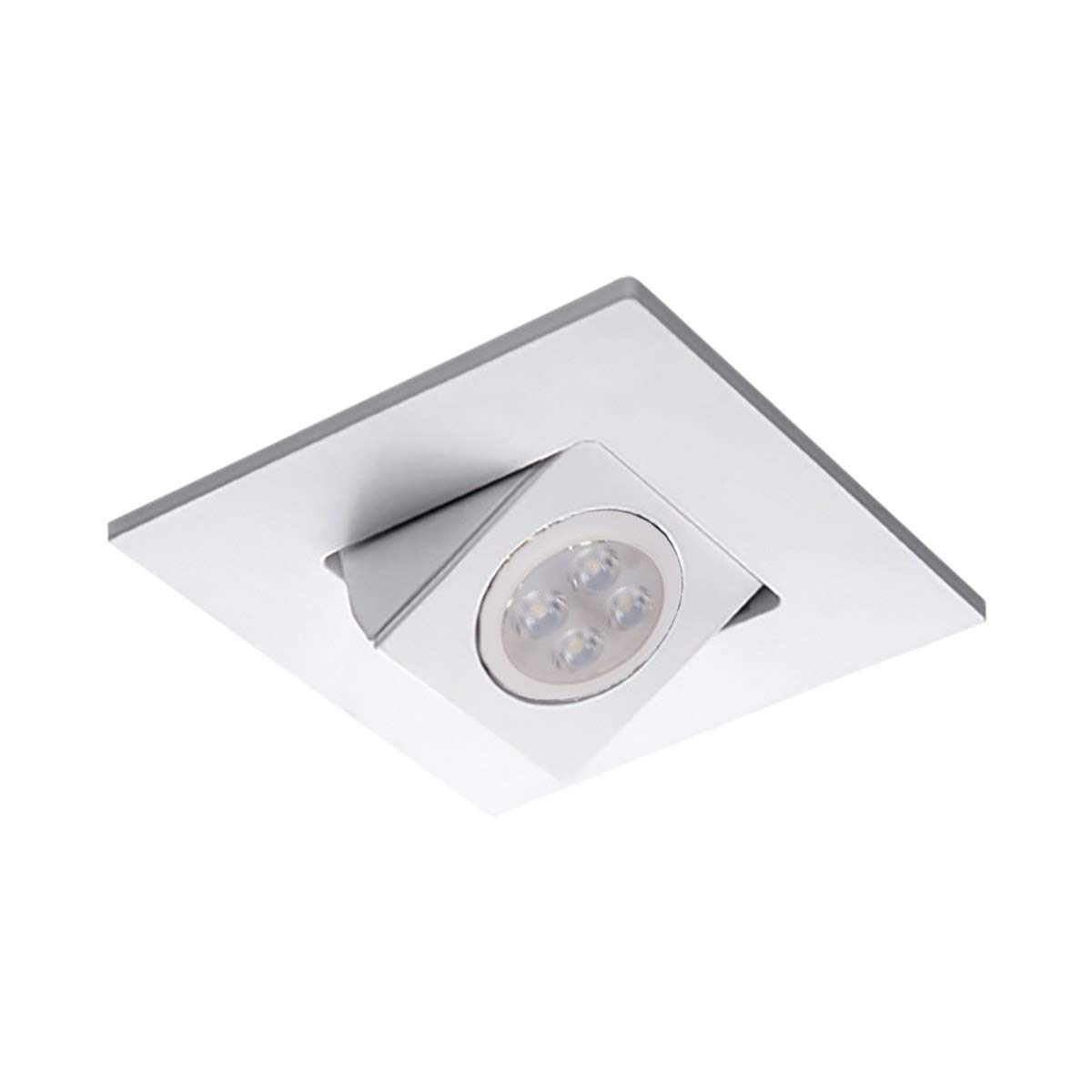 WAC Lighting HR-D416LED-WT 4インチ 正方形 調節可能 方向性 トリム LED 埋め込みライト 4インチ 低電圧   B07N1LVKWT
