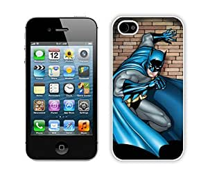 Batman Scenes In the Spotlight White iPhone 4 4S Case,personalized design together with Excellent protection