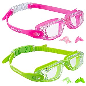 Well-Being-Matters 51cm1hY8G6L._SS300_ EverSport Kids Swim Goggles, Pack of 2 Kids Swimming Goggles, Crystal Clear Swimming Goggles for Children and Teens…