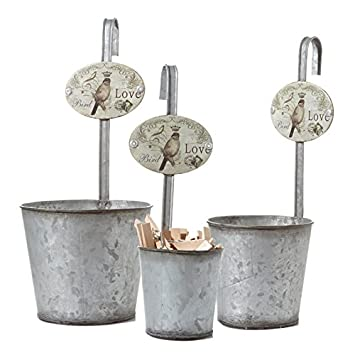 juego de metal para colgar estilo vintage flores macetas macetas para balcn o jardn