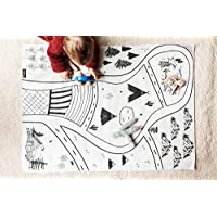 Small Play mat, travel toy, kids playmat, toddler road playmat, play town