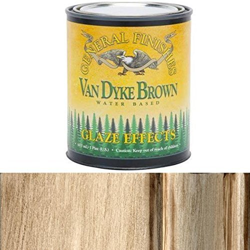 General Finishes PTVDB Glaze Effects, 1 Pint, Van Dyke Brown