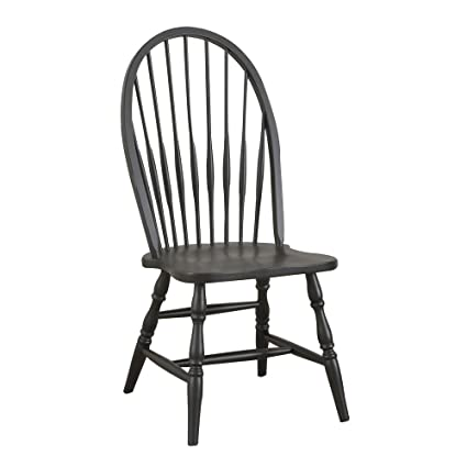 Carolina Classic Cottage Windsor Chair, Antique Black - Amazon.com - Carolina Classic Cottage Windsor Chair, Antique Black