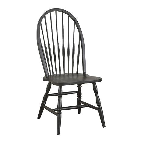 Carolina Classic Cottage Windsor Chair, Antique Black - Amazon.com - Carolina Classic Cottage Windsor Chair, Antique Black