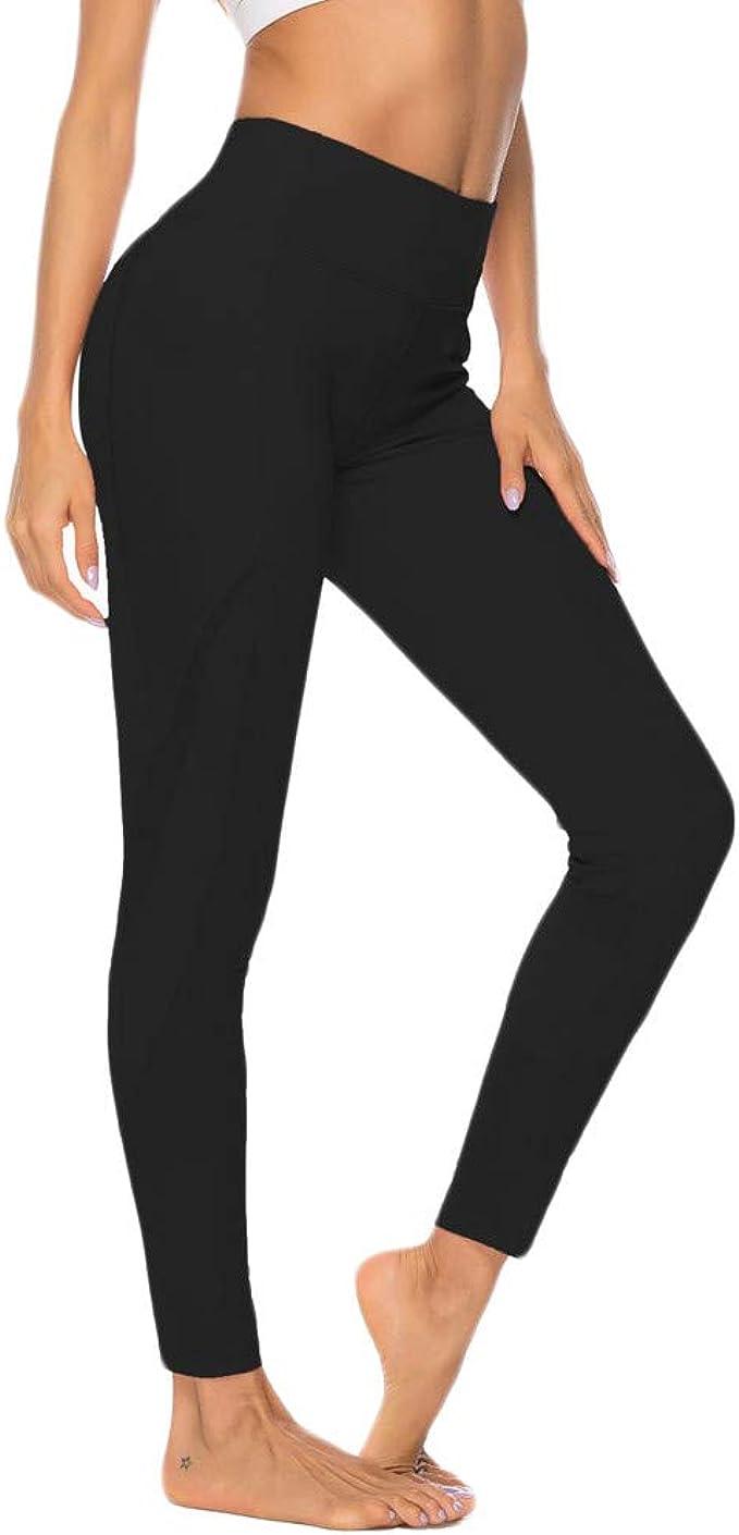 Amazon.com: Bravetoshop Womens High Waist Yoga Pants Tummy ...