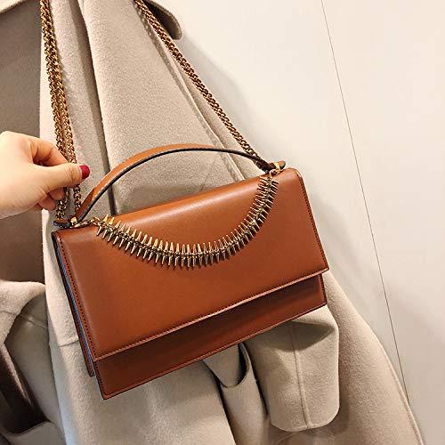 illisibles Petits Fashion Sac de arête carré Jane Petit Yuan de Le de Sac la chaîne épaule Main à Sacs ZHANGJIA cueillis brown Femmes Sac pfqzOfw