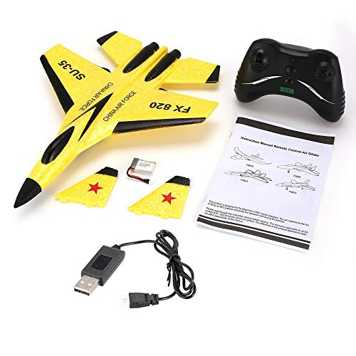 FX FX-820 2.4G Micro Glider 290mm Wingspan Fixed Wing Glider RC Airplane RTF Yellow